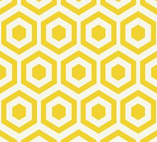 Yellow Hexagon Honeycomb by kwg2200