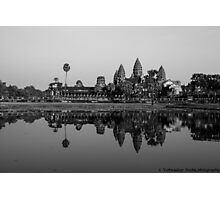 angkor wat at sunset in bnw Photographic Print