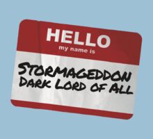 Hello My Name Is Stormaggedon - Doctor Who Kids Clothes