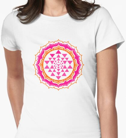Shri Yantra - Cosmic Conductor of Energy Womens Fitted T-Shirt