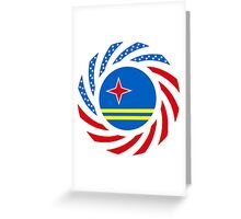 Aruban American Multinational Patriot Flag Series Greeting Card