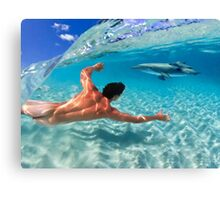 Play Beneath The Waves Canvas Print