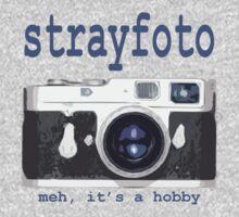 Strayfoto Meh It's A Hobby Logo Design Kids Tee