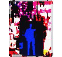 Blue man in US landscape iPad Case/Skin