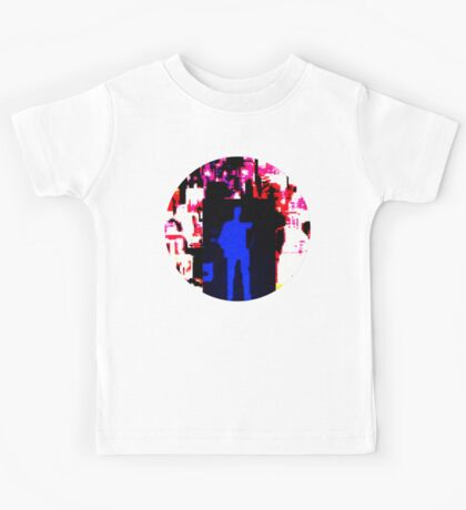 Blue man in US landscape Kids Tee