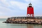 Lighthouse at Charlevoix, Michigan by Kenneth Keifer