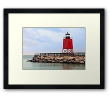 Lighthouse at Charlevoix, Michigan Framed Print