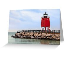 Lighthouse at Charlevoix, Michigan Greeting Card