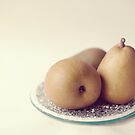 Pears on a Plate  by Nicola  Pearson