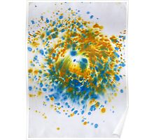 Spiral Spillage 02 - Painting Poster