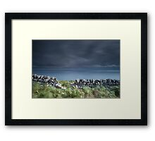 Land, Sea and Sky, Badbea, Caithness, Scotland Framed Print