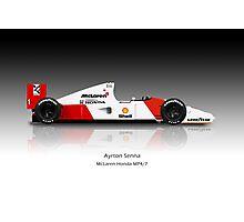Ayrton Senna - McLaren MP4/7 Photographic Print
