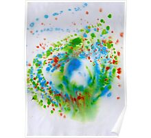 Spiral Spillage 05 - Painting Poster