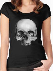 Half Skull Women's Fitted Scoop T-Shirt