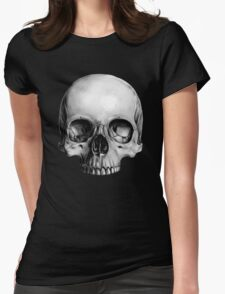 Half Skull Womens Fitted T-Shirt