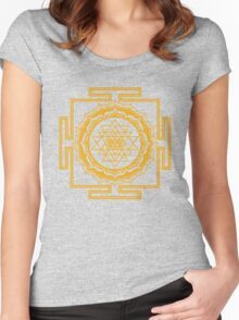 Shri Yantra - Cosmic Conductor of Energy Women's Fitted Scoop T-Shirt