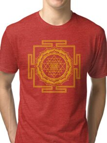 Shri Yantra - Cosmic Conductor of Energy Tri-blend T-Shirt
