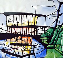 Stained glass spillage - Painting by dab88