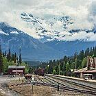 Banff Station, Alberta, Canada by Gerda Grice