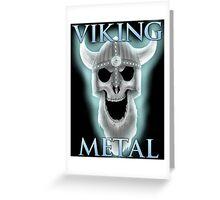 Viking Metal Greeting Card