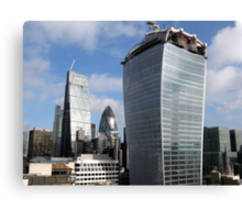 Gherkin - Cheesegrater and Walkie Talkie Canvas Print