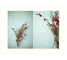 July Diptych 2014 Art Print