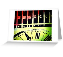 Abstract Time Greeting Card