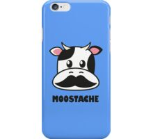 Moostache (white) iPhone Case/Skin