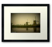 Kinderdijk in the mist Framed Print