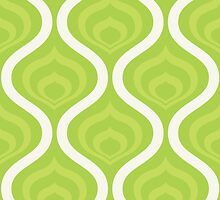 Green Retro Waves by kwg2200