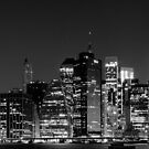 Downtown Manhattan - B&W  3x1 by Andrew Dunwoody