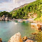 Private Beach in Brela, Croatia by Robert Kelch, M.D.