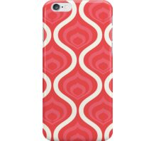 Red Retro Waves iPhone Case/Skin