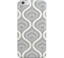 Grey Retro Waves iPhone Case/Skin