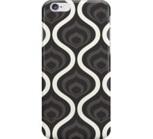 Black Retro Waves iPhone Case/Skin