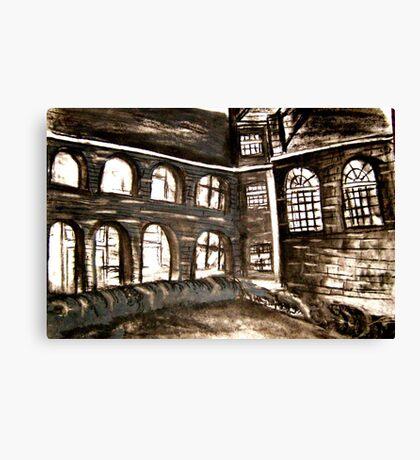 varndean courtyard Canvas Print