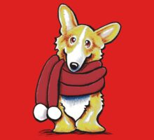 Corgi Happy Red Scarf Kids Clothes
