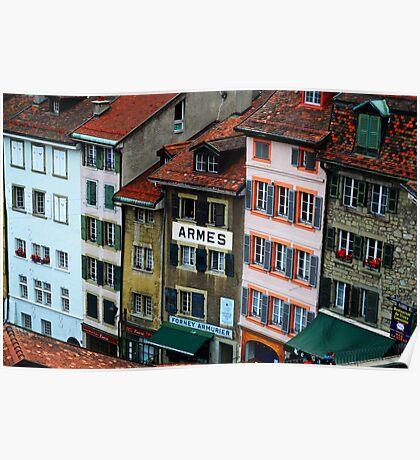 Escaliers du Marché, Lausanne, Switzerland Poster
