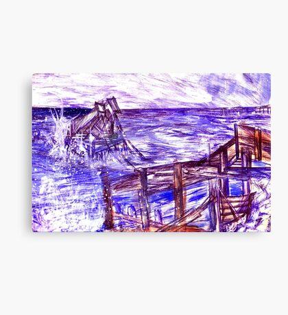 Stormy Brighton Canvas Print