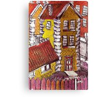 Little Red House Canvas Print