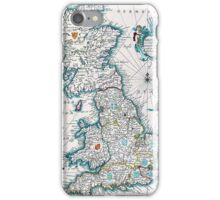 Vintage Antique Map of Britannia iPhone Case/Skin