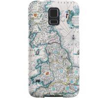 Vintage Antique Map of Britannia Samsung Galaxy Case/Skin