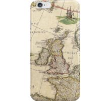 Vintage Antique Map of the United Kingdom Circa 1650 iPhone Case/Skin