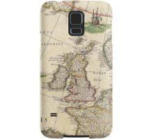 Vintage Antique Map of the United Kingdom Circa 1650 Samsung Galaxy Case/Skin