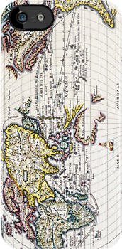 Vintage Map of the Known World Circa 1700 by pjwuebker