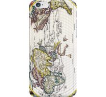 Vintage Map of the Known World Circa 1700 iPhone Case/Skin