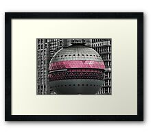 ☝ ☞ Close Up of Part Of The-Oriental Pearl Tower 东方明珠广播电视塔) IS A TV TOWER IN SANGHAI CHINA☝ ☞ Framed Print