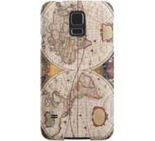 Vintage Map of the Known World Circa 1630 Samsung Galaxy Case/Skin