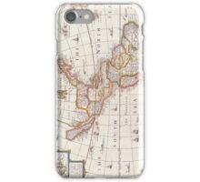 Vintage Map of America Circa 1676 iPhone Case/Skin