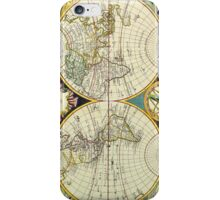 Vintage Antique Map of the World Circa 1755 iPhone Case/Skin